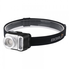 Boruit New Product Waterproof Head Lamp, AAA Dry Battery Design Headlight Zoom Led headlamp Light
