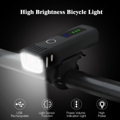 Smart Bicycle lanterna LED Bike Front Light Usb Rechargeable for cycling