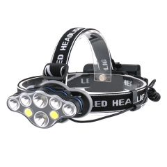 Red Light 18650 Rechargeable USB Head lamp, Powerful 8 Led Headlamp 10000 Lumen
