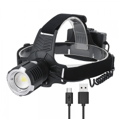 2020 New Arrival USB Rechargeable Rotating Focusing Headtorch, Ultra Bright Led Headlamp Xhp70 For Hunting