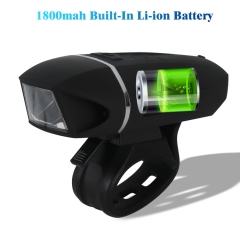 Rechargeable 350 Lumens Bike Light Front Bicycle Lights USB IP64 Waterproof for Cycling