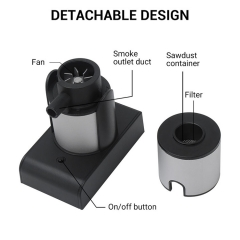 Latest Portable Handheld Cold Smoking Gun Electric Food Drink Cocktail Smoker Wood chips Smoke Infuser