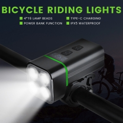 Presale 2021 new hot sale usb rechargeable bicycle lights power bank 4T6 high power 2000lm bicycle accessories bike led light